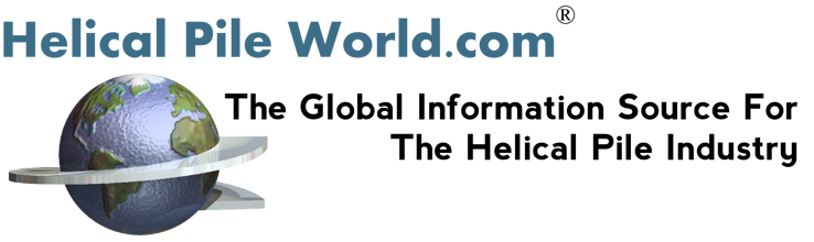 Helical Pile World - The Global Information Source For The Helical Pier Industry